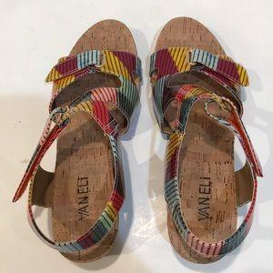 Kadeen Cork Wedge Sandals   Poshmark